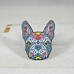 French Bulldog Colorful Enamel Lapel Pin