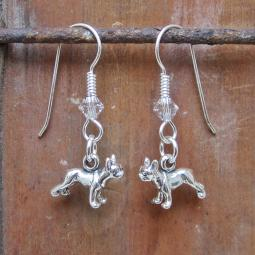 French Bulldog Sterling Silver Earrings