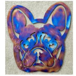 French Bulldog Metal Wall Hanging - Large