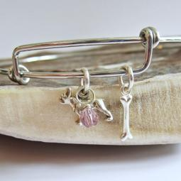 French Bulldog Mini Bone Stackable Bangle Bracelet
