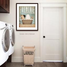 French Bulldog Laundry Wash & Dry 8x10 Giclee Print Blue BG.