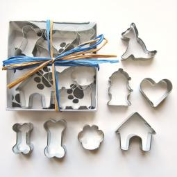 Seven Piece Mini German Shepherd Cookie Cutter Set