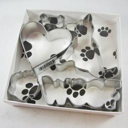 German Shepherd Woof Five Piece Cookie Cutter Set + a Letter!
