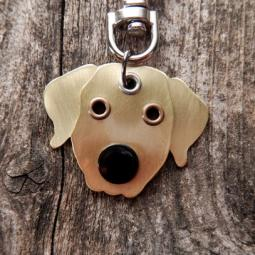 Golden Retriever Metal Rivet Tag/Keychain