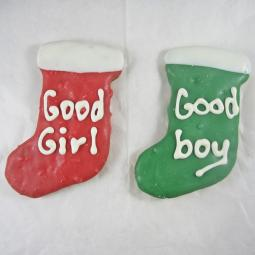 Medium Good Girl Good Boy Christmas Stocking Dog Treat