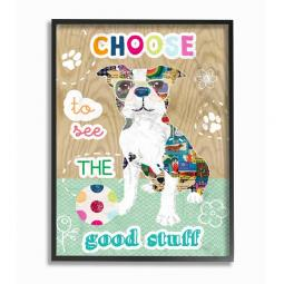 Pit Bull Good Stuff Collage Wall Art Plaque