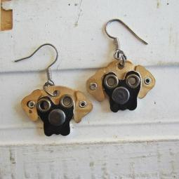 Great Dane Metal Rivet Earrings