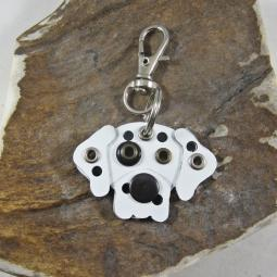 Great Dane Natural Ears Harlequin Metal Rivet Tag/Keychain