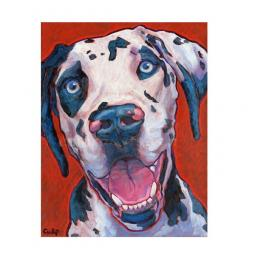 Smiling Harlequin Great Dane Print