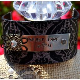 Great Dane Mom Leather Cuff