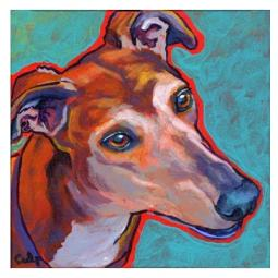 Greyhound Head Tilt Print