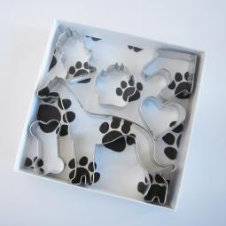 Greyhound Six Piece Cookie Cutter Set + a Letter!
