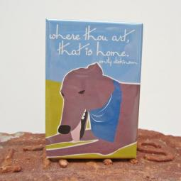 Greyhound Home Art Magnet