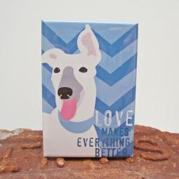 Greyhound Love Art Magnet
