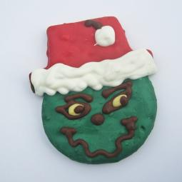 Large Grinch Christmas Dog Treat