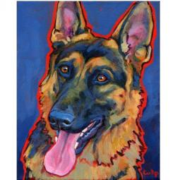 German Shepherd Smiling Print
