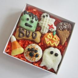Mini 8 Piece Halloween Dog Treat Assortment