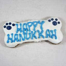 XL Happy Hanukkah Dog Bone Treat