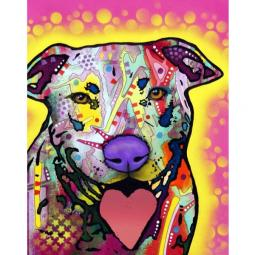 Heart Tongue Pit Bull Print