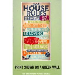 House Rules for Dogs 10x20 Giclee Print