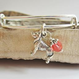 "Husky Large Dangle Stackable Bangle Bracelet (2.5""-3"")"