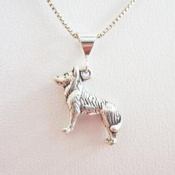 Husky Large Pendant Charm and Necklace