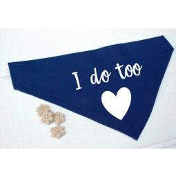 I Do Too Blue Canvas Dog Bandana