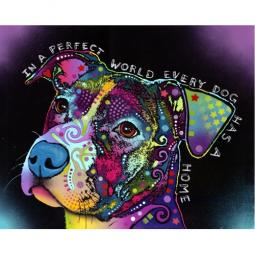 In a Perfect World Pit Bull Print by Dean Russo - Discontinued