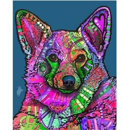 Indelible Corgi Indelible Dog Dean Russo Print