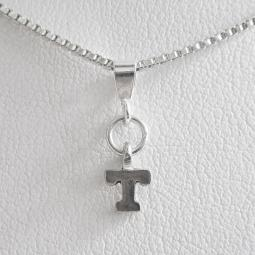Initial 'T' Mini Pendant Charm and Necklace