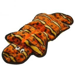 Kyjen Invincibles 4-Squeak Orange Gecko Dog Toy