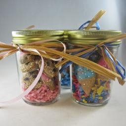 Half Pint Glass Jar of Mini Dog Treats