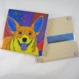 Joyful Corgi Angela Bond Coaster