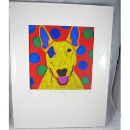 Just Clowning Around Bull Terrier Angela Bond Print