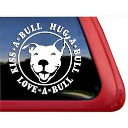 Kiss-a-Bull Hug-a-Bull Love-a-Bull Large Decal
