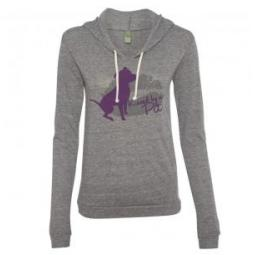 Grey Kissed by a Pit Ladies Lightweight Eco Hoodie