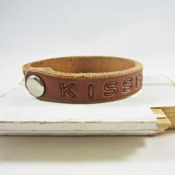 Kissed By A Pit Leather Cuff Bracelet