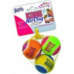 Kong AirDog SqueakAir Happy Birthday Balls