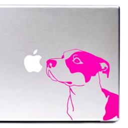 Hot Pink Pit Bull Large Decal