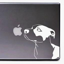 White Pit Bull Large Decal