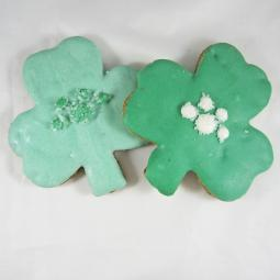 Large St. Patrick's Day Clover Dog Treat
