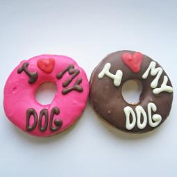 Medium I Love My Dog Donut Dog Treat