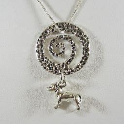 Large Pit Bull Spiral Necklace