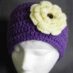 People Headband - Lavender with White Flower