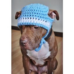 Light Blue and White Crochet Hat