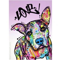 Love! Pit Bull Print by Dean Russo - ONLY 1 LEFT