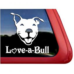 Love-a-Bull Face Large Decal