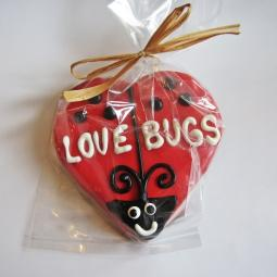 Large Love Bugs Dog Treat
