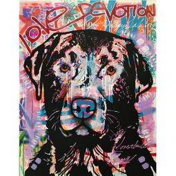 Love Devotion Lab Indelible Dog Dean Russo Print