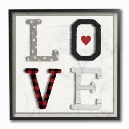 LOVE Collage Paw Print Wall Art Plaque